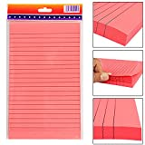 #6: PIGLOO Self-Stick Sticky Note Pad, Ruled, 8.5 x 5 inch, 100 Sheets, Peach