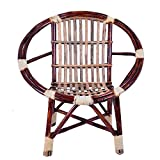 #6: Virasat Outdoor Small Chair/Garden Chair/Balcony Chair for Outdoor/Indoor Use For Kids/Color-Brown