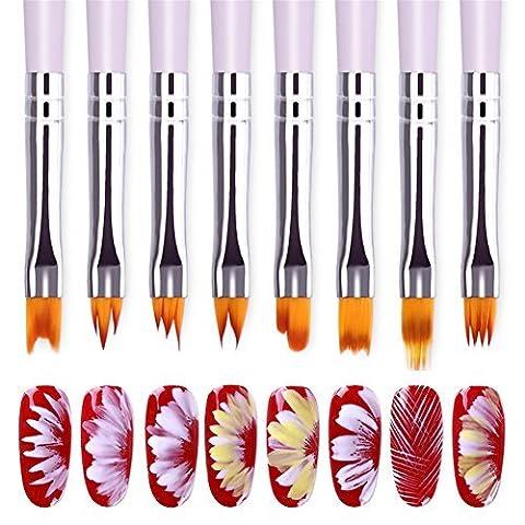 bonniestore 8pièces pinceau à pinceau pinceau pour pinceaux à pinceau pinceau à pinceau pour peinture à l'huile