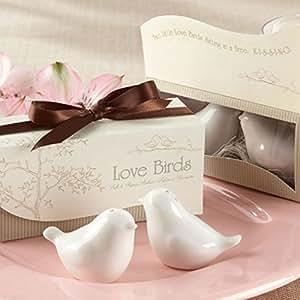 Salz- & Pfefferstreuer Liebestauben m. toller Verpackung – super als Gastgeschenk Geschenk geeignet z.B. für Hochzeiten – braun