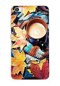 Omnam Cup Of Tea In Mufler Printed Designer Back Cover Case For Xiaomi Mi5
