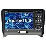 Ohok 7 Zoll Bildschirm 2 Din Autoradio Android 8.0.0 Oreo Octa Core 4G+32G Radio mit Navi Moniceiver DVD GPS Navigation Unterstützt Bluetooth WLAN DAB+ OBD2 für Audi TT 2006-2015