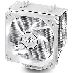 DeepCool Gammaxx 400 Ventola per CPU con 4 Coppie di Tubi di Calore, Dissipatore per CPU con 120mm PWM Ventola LED Bianca Silenziosa(AM4 Compatibile, Pasta Termico Incluso)