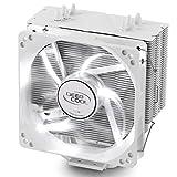 DEEPCOOL Gammaxx 400 Ventilador CPU con 4 Pares de Tubo de Calor, Disipador CPU con 120mm PWM Ventilador LED Blanco Silencioso(AM4 Compatible, Pasta Térmica Incluido)