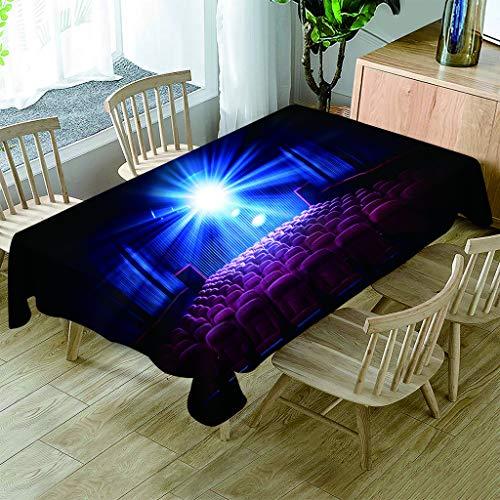 JHSH Tischdecke Polyester Rechteckig Licht Cafe Party Picknick Multifunktions Indoor Outdoor130x220cm