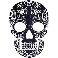 COKOHAPPY Temporanei Temporaneo Tatuaggi Tattoo ( Set Di 2 ) Croce Cranio Teschio Bone Floreale - Bone Disegno