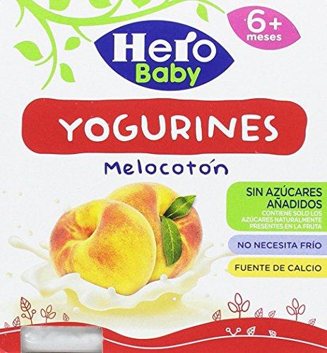Hero Baby Yogurines Melocotón - Paquete de 4 x 100 gr -...