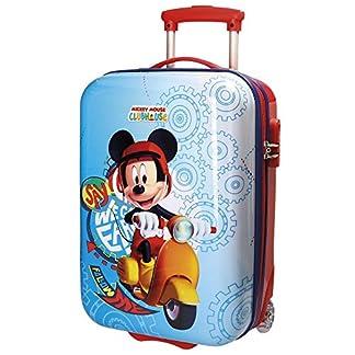 Disney Mickey Vespa Equipaje Infantil, 50 cm, 26 Litros, Multicolor