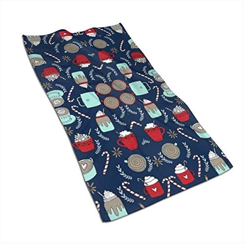 Tyueu Handtuch Gesicht Handtücher Hot Cocoa Face Towel,Hand Towel,Kitchen Towels-Dish 3D Design Pattern Towel,Towels for The Kitchen,Cleaning,Cooking,Baking,Dishwashing Towel 15.7x27.5in -