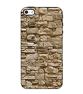Fuson Designer Back Case Cover for Apple iPhone 4S (Stone wall theme)