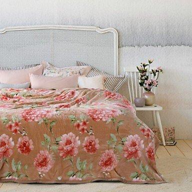 King Woven Bett (wangaima Woven Floral Polyester/Baumwolle Mischung Decken w79