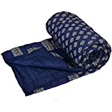 Viyansh Collection Rajasthani Print Dark Blue Colour Reversible World Famous Jaipuri Single Bed Quilt /Razai / Rajai /dohar/ac Blanket/falalen/blue Rajai