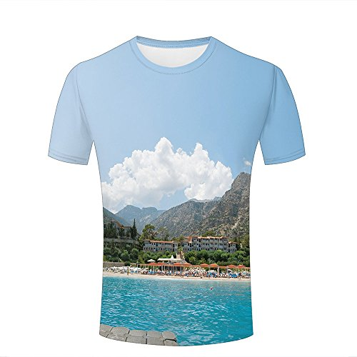 ouzhouxijia Men Women 3D Printed T-Shirts Famous Tourist Attractions Graphic Summer Casual Short Sleeve Tees Tops XL (Short Tee Sleeve Bamboo)