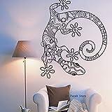 yaoxingfu Lagarto Gecko Tatuajes de Pared Animal Lindo Etiqueta de La Pared para Niño Dormitorio Niños Dormitorio Sala deJuegosDecoración de La Pared Arte Mural56x68 cm