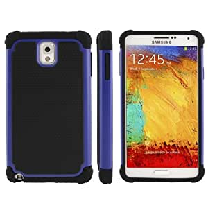 Honeycomb Texture Plastic + Silicone Combination Case for Samsung Galaxy Note 3 N9000 in Dark Blue