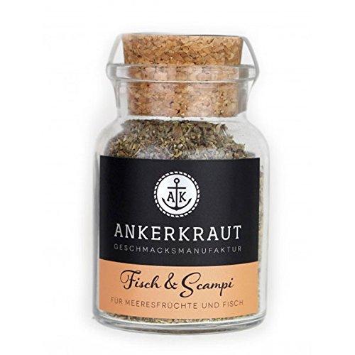 Ankerkraut Fisch & Scampi Trockenmarinade / BBQ-Rub, 70g im Korkenglas (Bbq Fisch)