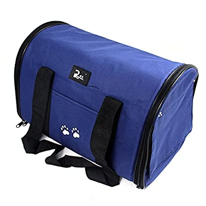 Nestling® Blue Oxford Cloth Pet Carrier Bag Dog Cat Bag Foldable Pet Travel Carrier Ideal for Puppy, Cat, Rabbit and… 1