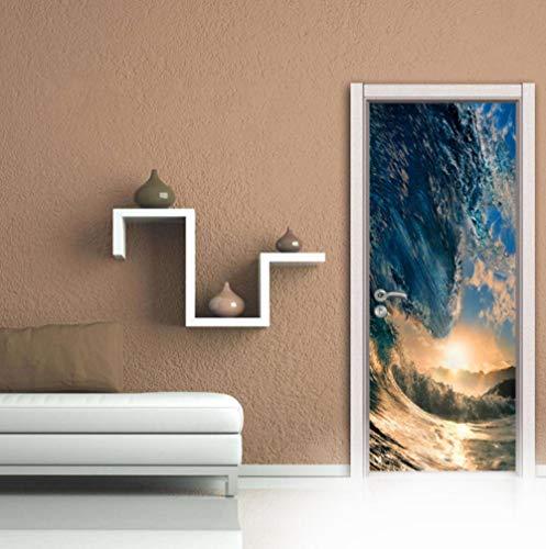 Poster per porta 3donde burattate pvc autoadesivo adesivo impermeabile camera da letto il soggiorno il bagno decorare 77x200cm