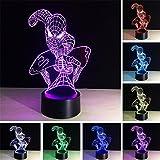 golight 3D optische Illusion Schreibtisch Lampe/3D optische Illusion Nachtlicht, 7Farbe LED 3D Lampe, Marvel Comics 3D LED für Kinder und Erwachsene, Spider-Man Light Up
