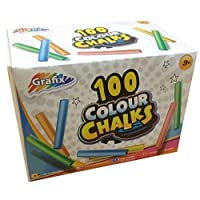 Grafix Box of 100 Assorted Colour Chalks