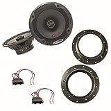 ALPINE SPG-17C2 Lautsprecher Set für Tiguan Touran sowie Touareg T5 2 Wege Koaxial Lautsprechersystem für die vorderen Türen