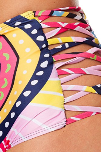 ATIXO Push-up Bikini pink/gemustert