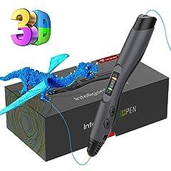 Idea Regalo - Tecboss Penna 3D, 3D Penna Stampa con Schermo LCD e Controllo della Temperatura, 8 velocità Regolabile, Compatibile con PLA/ABS Filaments, Perfetto Regalo di Natale per Bambini Adulti Artista