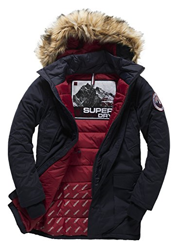 SUPERDRY Everest Twin Peaks Jacket, Giacca Uomo, Dark Navy24S, XL