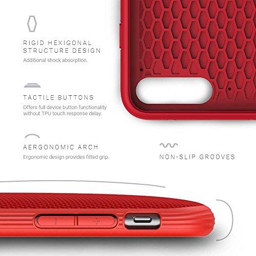 Evutec AP-755-MK-B02 Aergo Ballistic Nylon Ergonomische kratzfest Leichte Schutzhülle für Apple iPhone 7Plus, 13,2cm w/Afix Mount grau rot
