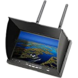 Eachine elikliv 17,8cm 40CH lcd5802d FPV Monitor Empfänger System Dual Antenne Video Record mit eingebautes Empfänger Akku