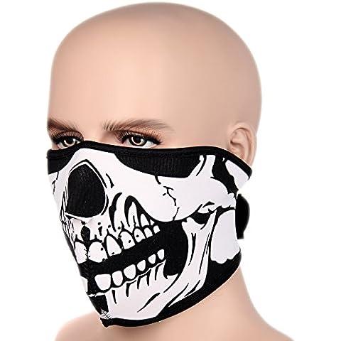 Jewelrywe Maschera Balaclava La Faccia Cranio Ghost Maschera Pieno Cosplay Sciarpa Style a