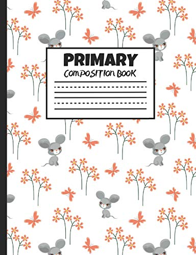 """Primary Composition Book: Baby Mice, Farm Animals, 200 Pages, Handwriting Paper (7.44"""" x 9.69"""")"""