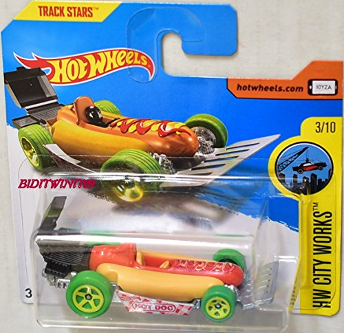 2017 Hot Wheels HW City Works Street Wiener 'Hot Dog' 331/365 (Short Card)
