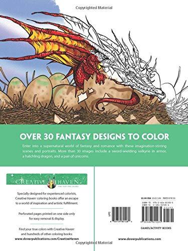 Creative Haven Fantasy Designs Coloring Book (Creative Haven Coloring Books)