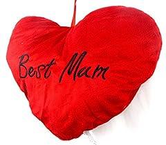 Idea Regalo - Cuscino a forma di cuore Best Mum regalo Festa della mamma