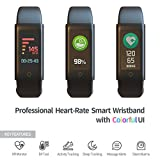 Fitness Tracker mit Farbdisplay, Mach dich Fit Tracker Smart Watch Smart Bluetooth Armband Schrittzä