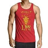 lepni.me Weste We Call it Life Motorradbekleidung (Large Rot Mehrfarben)