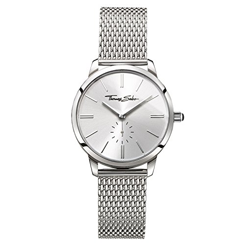 Thomas Sabo Damen-Armbanduhr Analog Quarz Edelstahl WA0248-201-201-33 mm