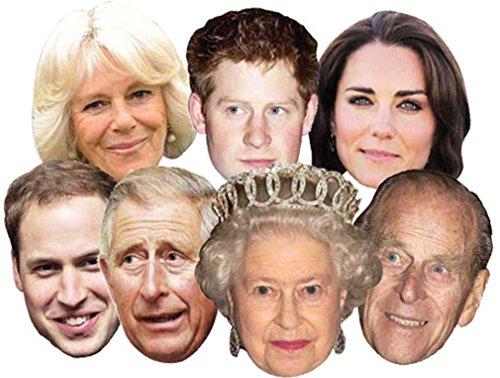 (The Royals - Multipack - 7 Celebrity Face Masks)