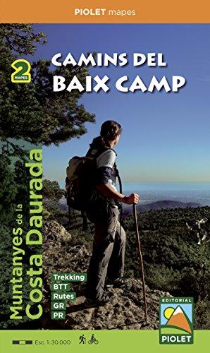 Camins del Baix Camp. 2 mapes. Mapa excursionista. Escala 1:30.000. Editorial Piolet. por VV.AA.