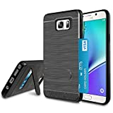 Jeylly Galaxy Note 5 Case, Note 5 Cover Card Slots Holder, Hybrid Hard