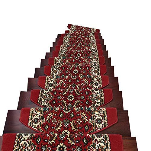 Tappetini per Scale, Moquette Anti-Scivolo, Tappeti Autoadesivi Senza Colla per Scale Interne in Legno Liscio (Colore : Set of 3, Dimensioni : 75x24+3cm)