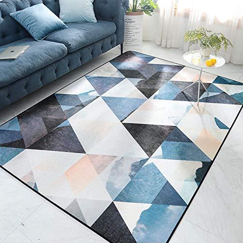 Decke XINGUANG Home Schlafzimmer Zimmer Anti-Rutsch-Bettdecke Moderne Minimalistische Chenille Haarlose Wohnzimmer Couchtisch Teppich Teppich (Farbe : B, größe : 160 * 230cm) -