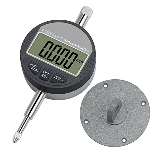 Digital Dial Indicator 0.001mm/0.00005'' Neoteck DTI Dial Test Gauge Range 0-12.7mm Digital Probe Indicator Dial Test Indicators Electronic Indicator Gauge (Dial Indicator Gauge)