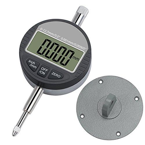 Digital Dial Indicator 0.001mm/0.00005'' Neoteck DTI Dial Test Gauge Range 0-12.7mm Digital Probe Indicator Dial Test Indicators Electronic Indicator Gauge (Dial Indicator Gauge)