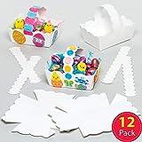 Baker Ross Lot de 12 Paniers de Pâques Blancs à colorier ou décorer