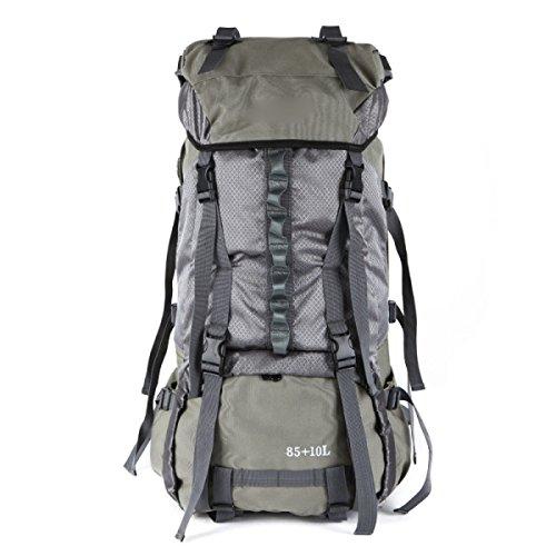 Outdoor Bergsteigen Tasche Rucksack Große Kapazität Reisebeutel Wandern Rucksack,Black Gray