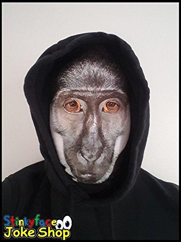 Baboon Full Head Maske Realistische Tier gedruckt Lycra Funny Scary Fancy Kleid