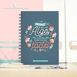 Cuadernos con frases que inspiran y de elegante diseño.