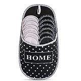 Pantofole degli ospiti a pois in ABS | Set da 6 | antiscivolo | scarpe da casa| pantofole di feltro
